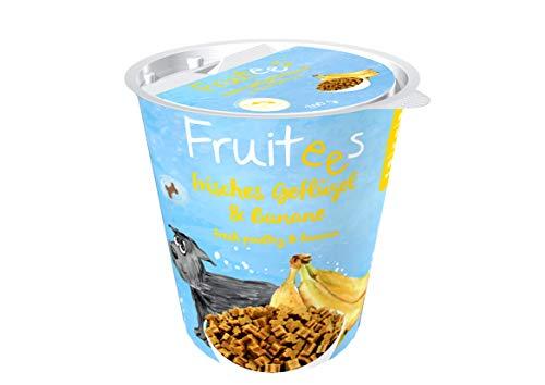bosch Finest Snack Concept | Fruitees frisches Geflügel & Banane | Ohne Getreide | 4er Pack mit 4 x 200 g