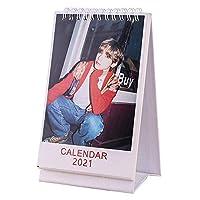 2021年新 卓上 カレンダー For BTS For 防弾少年団 ミニ カレンダー 写真入り ミニ 可愛い 防弾少年団 写真集 スケジュール 人気韓流グッズ 応援グッズ お祝い プレゼント(for V)