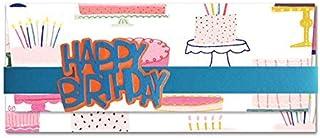 Porta soldi - torta - compleanno - busta portasoldi (formato 22 x 9,5 cm) + biglietto d'auguri vuoto all'interno - ideale ...