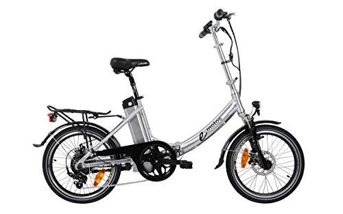 41Xa2gUGzAL - e-motos Alu Pedelec K20 Faltrad Klapprad E-Bike mit Panasonic Akku