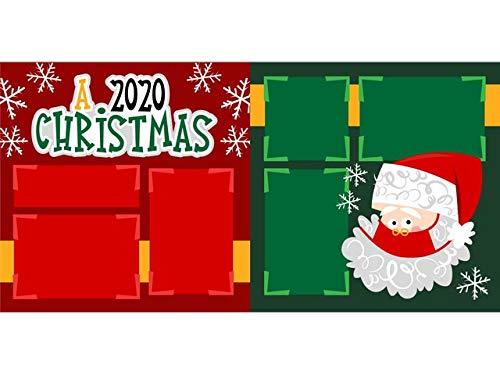 """A 2020 Christmas"" Scrapbook Page Kit"
