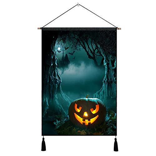 Heetey Halloween Dekoration Ungerahmtes Hallowmas Ölgemälde Bild ausdrucken Home Wall Room Wandbehang Aufkleber Wall Decor Home Dekorationen für Wohnkultur Schlafzimmer Hintergrundwand