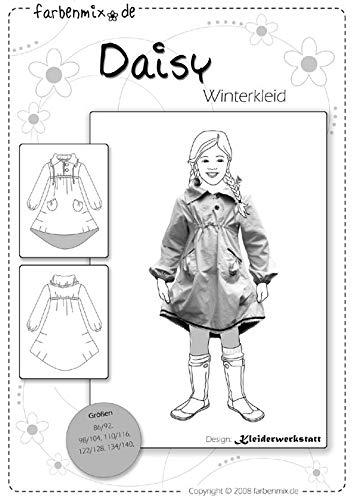 Farbenmix Daisy Schnittmuster (Papierschnittmuster für die Größen 86/92-134/140) Winterkleid