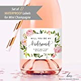 Champagne Bottle For Bridesmaids