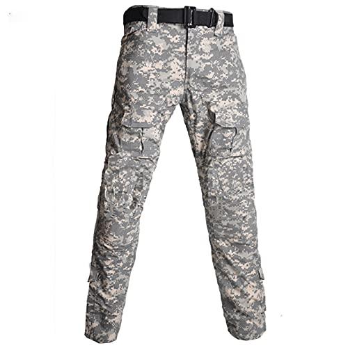 LIZONGFQ Monos de Trekking al Aire Libre de los Hombres Camuflaje de Camuflaje Pantalones tácticos Uniformes Militares Multi-Bolsillo Mono de Servicio Pesado,3,3XL