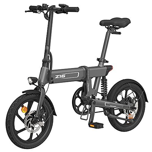IKAYAA 16 Pollici Bicicletta Elettrica Pieghevole Servoassistito Ciclomotore E-Bike,Modalità Elettrica Pura 55KM