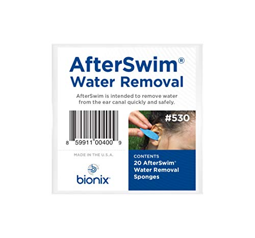 Bionix Corporation Health at Home Afterswim Water Removal From Ears, Blue, 20 Count, 1-Pack