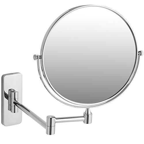 TecTake Schminkspiegel Kosmetikspiegel | 360° neig- und drehbar | Perfekt zum Schminken und Rasieren - Verschiedene Modelle (5-Fach | Nr. 402642)
