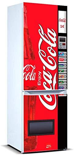 Pegatinas Vinilo para Frigorífico Máquina expendedora Cola | Varias Medidas 185x70cm | Adhesivo Resistente y de Fácil Aplicación | Pegatina Adhesiva Decorativa de Diseño Elegante