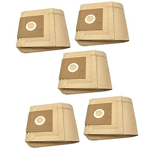 vhbw 50x bolsa compatible con Kärcher NTZ 361 Eco/TE, WD 4.000 - WD 4.999, WD 5.000 - WD 5.999, Xpert NT 360 aspiradora - papel, marrón