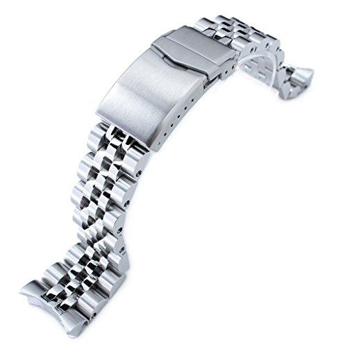 Angus Jubilee, cinturino per orologio 316L SS per Seiko SKX007, 22 mm, chiusura a v
