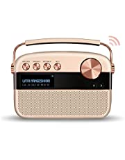 Saregama Carvaan 2.0 Hindi Portable Music Player - Sound by Harman/Kardon with 5000 Preloaded songs and Podcast, FM/ BT/AUX(Rose Gold)
