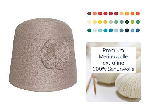 Breiwol 1 kg Merino extrafine 100% scheerwol handbreien wol breien haken garen 1000 g naald 2,5 3 3,5 4 - beige