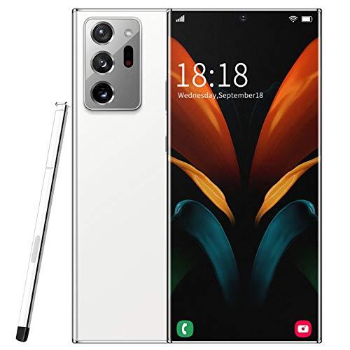 XIAOQIAO Telefono Cellulare 6,9 Pollici Smartphone Sbloccati Note20U + Telefono Cellulare, 12 GB + 512 GB di Memoria, Fotocamera da 18 MP + 48 MP, Riconoscimento Facciale e Batteria da 5000 mAh