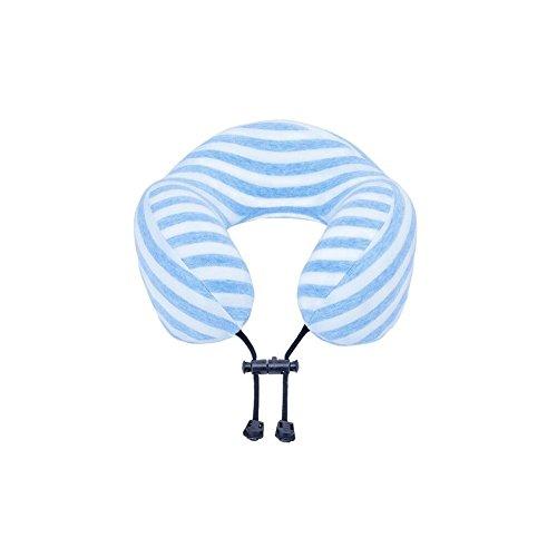 Dall Coussins lombaires Rayures Bleues Oreiller Siesta Oreiller De Voyage Oreiller en Forme De U Coussin De Cou Oreiller Mémoire Boucle Antidérapante