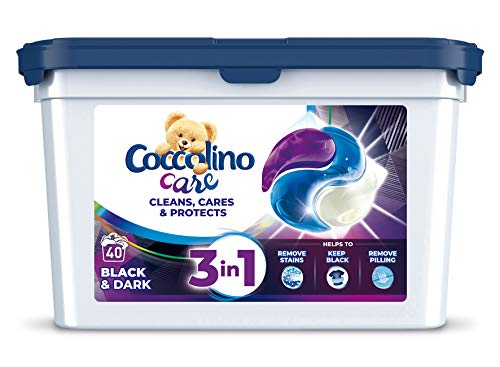 Coccolino Care PODS/Tabs Waschmittel BLACK & DARK - 40 Waschladungen / 40 Kapseln