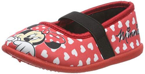 Minnie Mouse Girls Kids Ballerina Houseshoes, Chaussons Bas Garçon Fille, (Red Red), 31 EU