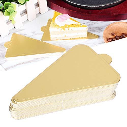 Tablero de pastel, Tableros de pastel de mousse triangular Base de cupcake Bandeja de exhibición de postre Herramientas de decoración de cartón, 300 piezas