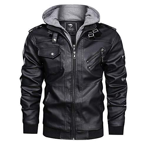 Black, L Jet Motorcycle Motorbike Jacket Mens Textile Waterproof Armoured Mid Length Multi Functional PANTHER