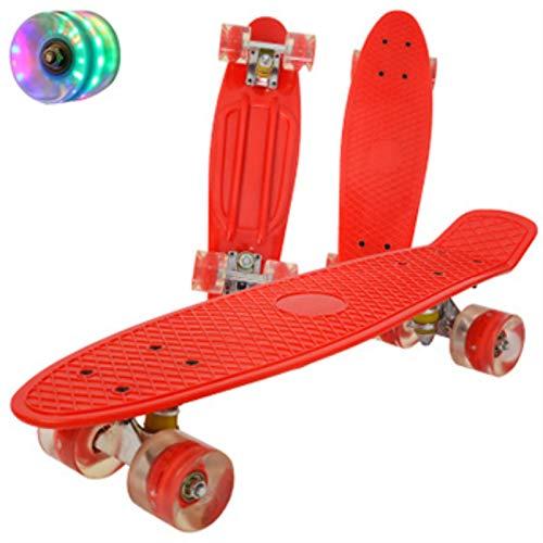 22inch Fish Board Mini Cruiser Skateboard, Children Scooter ,Longboard Skate, Boards Retro Penny Board, Wheel Truck Bearings