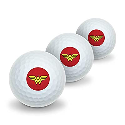 GRAPHICS & MORE Wonder Woman Classic Logo Novelty Golf Balls 3 Pack
