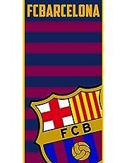 FC Barcelona FCB134BT Toalla, Juventud Unisex, Azulgrana, 70 X 140 Cm