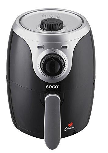 SOGO Air Fry - Freidora de Aire Caliente sin Aceite, Capacidad 2L, 1000W con Control de Temperatura...