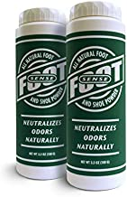 Natural Shoe Deodorizer Powder, Foot Odor Eliminator & Body Powder- for Smelly Shoes, Stinky Feet, Body Freshener. Use on Kids & Adults. Talc Free, Made in USA - FOOT SENSE (100G - 2 Pack - 100G)