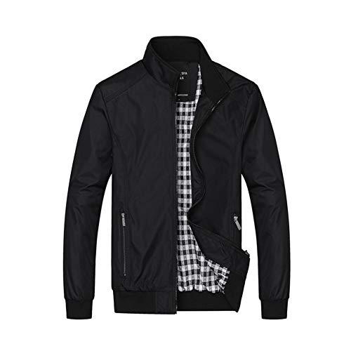 2018 New Men's Casual Jackets Lightweight Slim Fit Bomber Jackets Coats Top Classic Outerwear Windbreaker,Black,2XL