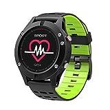 SUNLMG Nuevo Reloj Inteligente F5 con termómetro de barómetro de altímetro GPS,Green