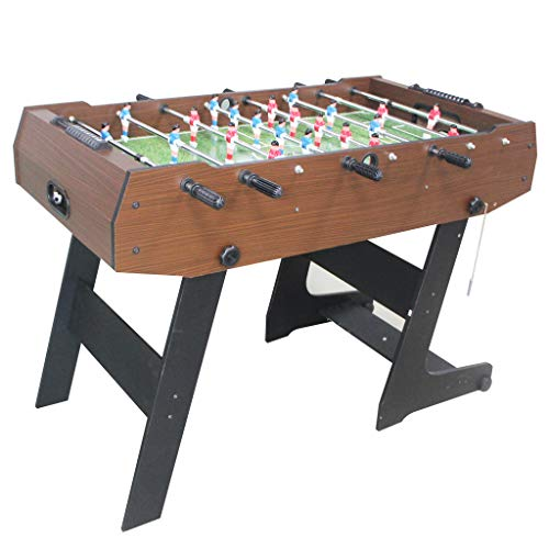 KAKIBLIN 4FT Folding Football Table, Indoor Amusement Table Wooden Soccer Foosball Table Competition Table for Adults And Kids Room Sports Game, One Size with 2PCS Football