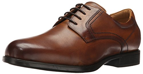 Florsheim Men's Medfield Plain Toe Oxford Dress Shoe, Cognac, 12 Medium