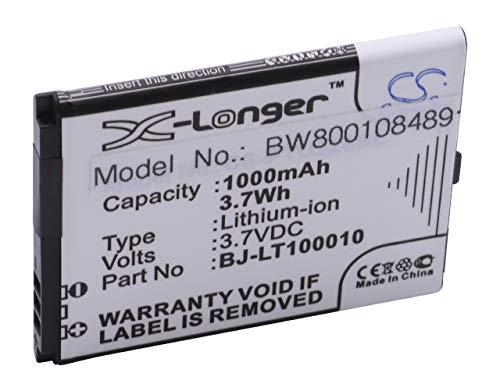 vhbw Li-Ion Akku 1000mAh (3.7V) für Handy Smartphone Handy Panasonic KX-TU339, KX-TU339EXBE wie BJ-LT100010.