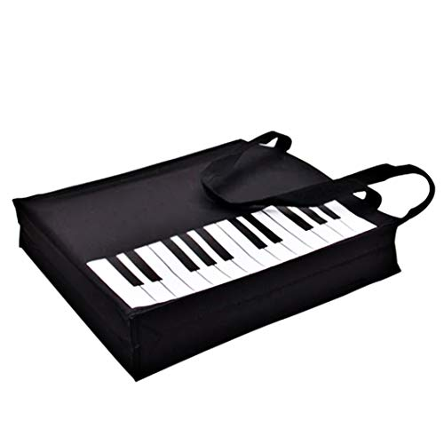 Piano Keys Handbag Reusable Grocery Bag Shoulder Shopping Bag Tote Bag for Music Teacher Girls Gift Bag (Piano Keys Handbag)
