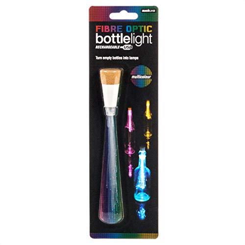 SUCK UK Luz para Botellas con Fibra Óptica, Blanco