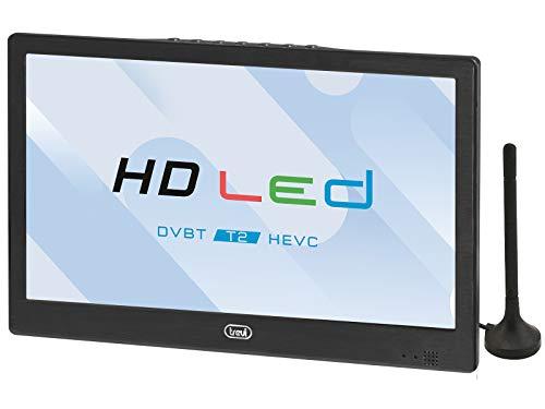 "Trevi LTV 2010 HE Televisore Portatile 10.1"" con Decoder Digitale Terrestre DVB-T2, HEVC 10 Bit, Presa Accendisigari 12V, Ideale per Camper, Batteria Ricaricabile al Lithio"