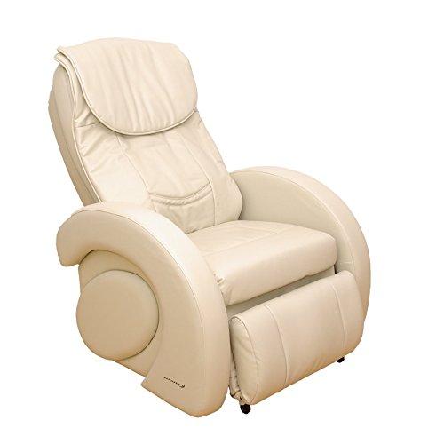 Sanazen Wellnes Massagesessel Design Pro beige, Shiatsu Ganzkörper Massage-Sessel mit Wirbelsäulenvermessung, Vibration im Sitzbereich