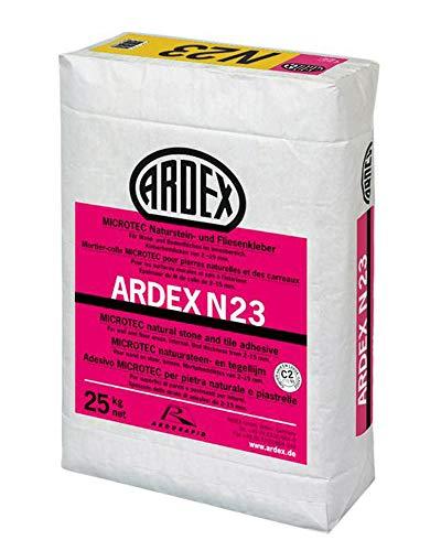 ARDEX N23 MICROTEC Naturstein- und Fliesenkleber 25kg mit ARDURAPID® - Effekt Für Wand- und Bodenflächen im Innenbereich.