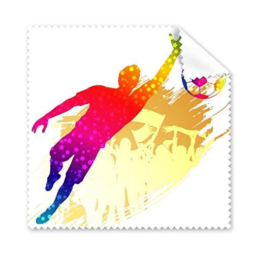 Bloques de portero de fútbol Fútbol Gafas paño de limpieza paño móvil limpiador de pantalla 5unidades regalo