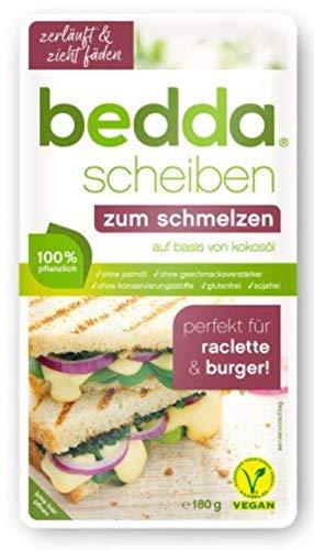 bedda - SCHEIBEN zum Schmelzen 180g Vegane Käsealternative Cremig, Würzig und Zartschmelzend