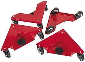 Sealey CM4 Hoek Transport Dollies Set van 4 150kg Capaciteit