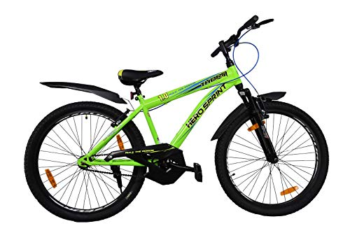 Hero Sprint Thorn 26 Inches Single Speed Front Suspension Unisex Bike Green & Black, wheel size: 26 inch, frame size: 18.5 inch, mens