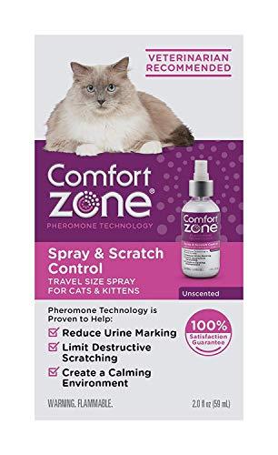 Comfort Zone Spray & Scratch Control Cat Calming Spray (2 x 2 Oz (4 oz Total))