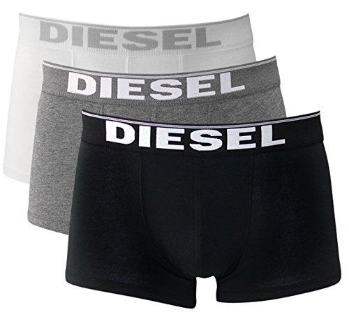3er Pack oder 2er Pack Diesel Herren Boxershorts Unterwäsche Stretch Cotton Fresh & Bright oder Kory S M L XL (L/6, black/white/grey (Kory 3er Pack))