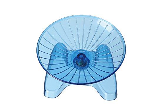 SatisPet アルティメット ハムスター フライングソーサー 回し車(ブルー)丈夫 ABS プラスティック エクサ...