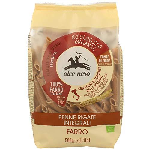 ALCE NERO(アルチェネロ) 有機 全粒粉 スペルト小麦 ペンネ 500g (オーガニック イタリア産 古代小麦 ゆで時間10分)