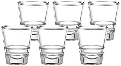 Amazon Brand - Solimo Ariya Shot Glass Set, 30ml, Set of 6, Transparent