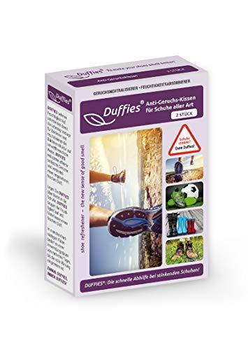 Anti-Geruchsbeutel für Schuhe und Taschen, beseitigt Gerüche in Schuhen, Turnschuhen & Sporttaschen, mit Bambus-Aktivkohle, Luftreinigungsbeutel, tolles Design, Duffies (2 x 150g) (Laufschuhe)