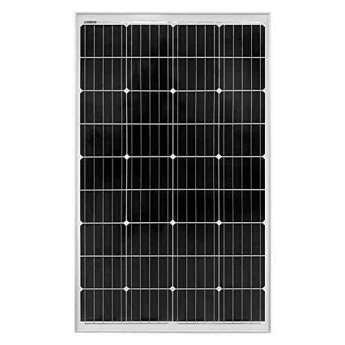 Litionite Rayo 130W Panneau solaire monocristallin en verre trempé avec structure en aluminium idéal pour créer un système solaire Off-Grid/PowerWall/Générateur/Maison/Campeur/Bateau/Caravane