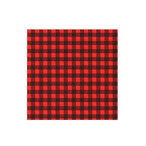 WARMWORD Rollo de Vinilo de Transferencia de Calor, Vinilo Mate HTV para Camisetas, 1 Rollo de Transferencia de Calor de Vinilo para Planchar sobre la Ropa, Elemento de Enrejado Negro Rojo de